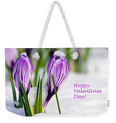 Valentines Day Crocuses Weekender Tote Bag