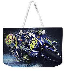 Valentino Rossi Weekender Tote Bag by Taylan Apukovska