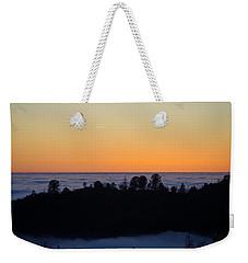Valley Fog Sunset Weekender Tote Bag