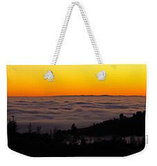 Valley Fog Twilight Weekender Tote Bag
