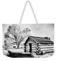 Weekender Tote Bag featuring the photograph Valley Forge Winter Troops Hut                           by Paul W Faust - Impressions of Light