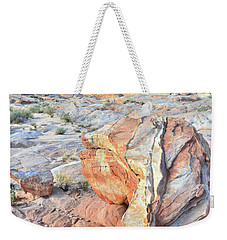 Valley Of Fire Alien Boulder Weekender Tote Bag by Ray Mathis