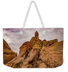 Weekender Tote Bag featuring the photograph Valley Of Fire At Rainbow View by Janis Knight