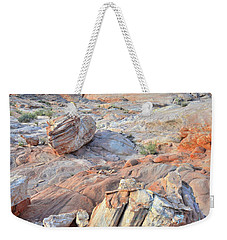 Valley Of Fire Boulders Weekender Tote Bag by Ray Mathis
