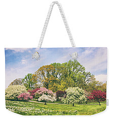 Weekender Tote Bag featuring the photograph Valley Of The Daffodils by Jessica Jenney