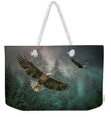 Weekender Tote Bag featuring the photograph Valley Of The Eagles. by Brian Tarr
