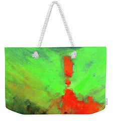 Weekender Tote Bag featuring the painting Valley View by Nancy Merkle