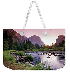 Valley View Sunrise Weekender Tote Bag