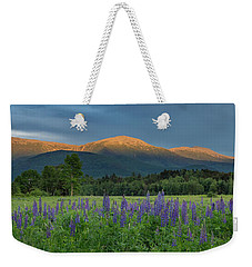 Valley Way Lupine Sunset Weekender Tote Bag