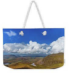 Valleys And Mountains In County Kerry On A Summer Day Weekender Tote Bag by Semmick Photo
