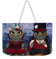 Vampire Cat Couple Weekender Tote Bag
