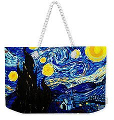 Van Gogh Starry Night  Weekender Tote Bag by Scott D Van Osdol