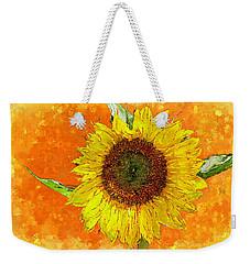 Van Gogh's Sunflower In Orange Weekender Tote Bag