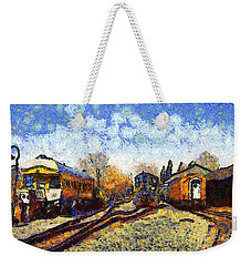 Van Gogh.s Train Station 7d11513 Weekender Tote Bag