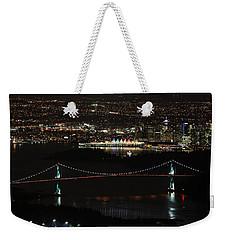 Vancouver At Night Weekender Tote Bag