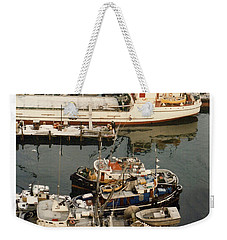 Weekender Tote Bag featuring the photograph Vancouver Harbor Fishin Fleet by Jack Pumphrey