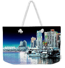 Vancouver Harbor Moonrise  Weekender Tote Bag