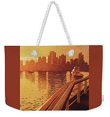 Weekender Tote Bag featuring the painting Vancouver Morning- Bc by Ryan Fox