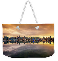 Weekender Tote Bag featuring the photograph Vancouver Reflections by Eti Reid