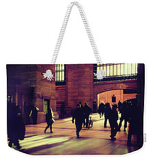 Weekender Tote Bag featuring the photograph Grand Central Rush by Jessica Jenney
