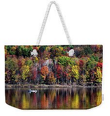 Vanishing Autumn Reflection Landscape Weekender Tote Bag