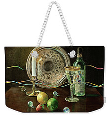Vanitas Still Life By Candlelight With Les Bourgeois Wine Weekender Tote Bag