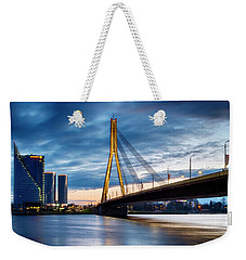 Weekender Tote Bag featuring the photograph Vansu Tilts by Fabrizio Troiani