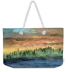 Vapor Entering Northern Forest Weekender Tote Bag by R Kyllo