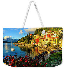 Varenna Italy At Sunset Weekender Tote Bag