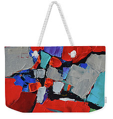 Weekender Tote Bag featuring the painting Variation by Elise Palmigiani