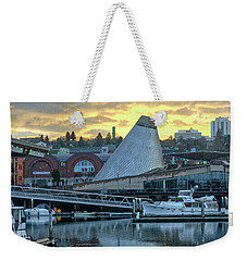 Weekender Tote Bag featuring the photograph Variation On A Cloudy Twilight by Chris Anderson
