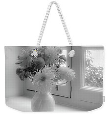 Weekender Tote Bag featuring the photograph Vase Full Of Flowers by Ryan Photography