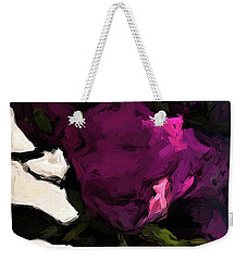 Vase Of Roses With Shadows 1 Weekender Tote Bag