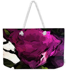Vase Of Roses With Shadows 2 Weekender Tote Bag