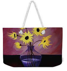 Flaming Petals Weekender Tote Bag