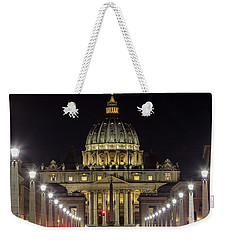 Vatican At Night With Lights  Weekender Tote Bag