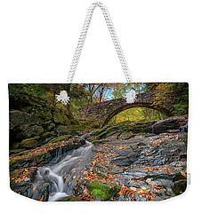 Weekender Tote Bag featuring the photograph Vaughan Brook And Arch Bridge by Rick Berk