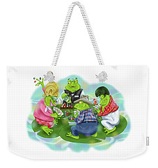 Vegas Frogs Playing Poker Weekender Tote Bag