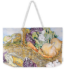 Vegetables In A Basket Weekender Tote Bag by Joan Thewsey