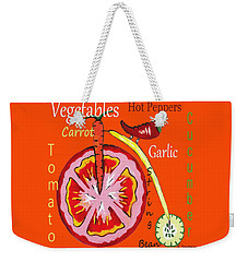 Vegetables - Typography Weekender Tote Bag