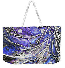 Weekender Tote Bag featuring the mixed media Veiled Figure by Angela Stout