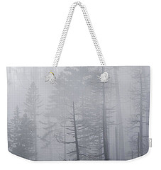 Weekender Tote Bag featuring the photograph Veiled In Mist by Dustin LeFevre