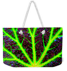 Veins On A Leaf Weekender Tote Bag