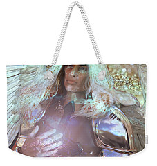 Weekender Tote Bag featuring the painting Veneration by Suzanne Silvir