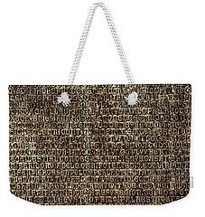 Weekender Tote Bag featuring the photograph Venetian Babel by Anne Kotan
