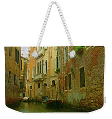 Weekender Tote Bag featuring the photograph Venetian Canyon by Anne Kotan