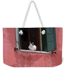 Venetian Cat In Window Weekender Tote Bag