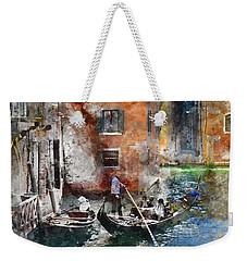 Venetian Gondolier In Venice Italy Weekender Tote Bag