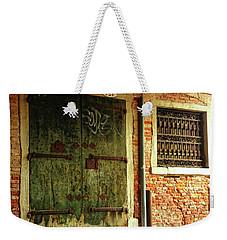 Weekender Tote Bag featuring the photograph Venetian Graffiti by Anne Kotan