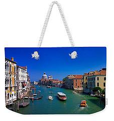 Weekender Tote Bag featuring the photograph Venetian Highway by Anne Kotan